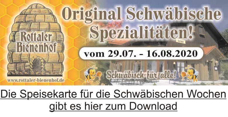 Speisekarte Schwäbische Wochen 2020